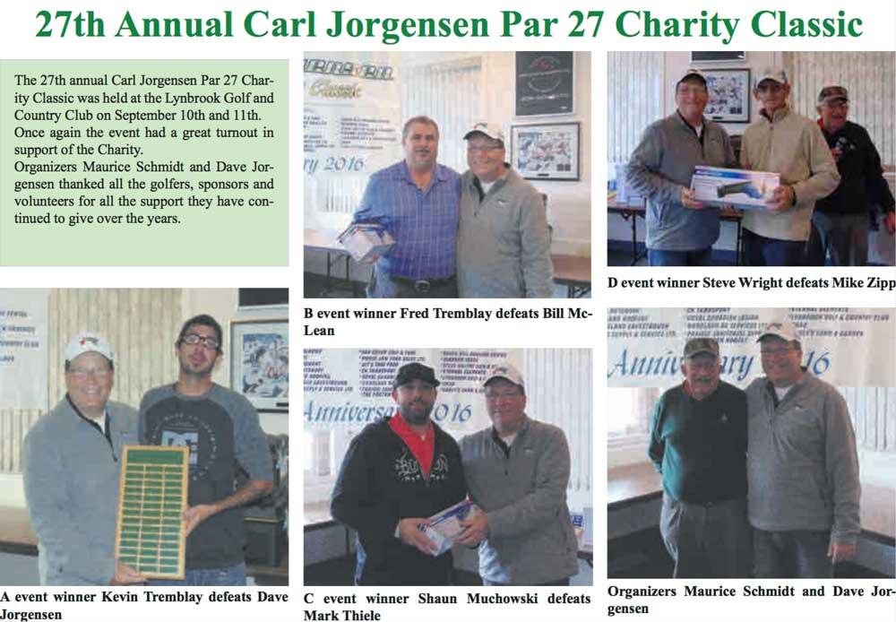 Carl Jorgensen annual par27 charity classic